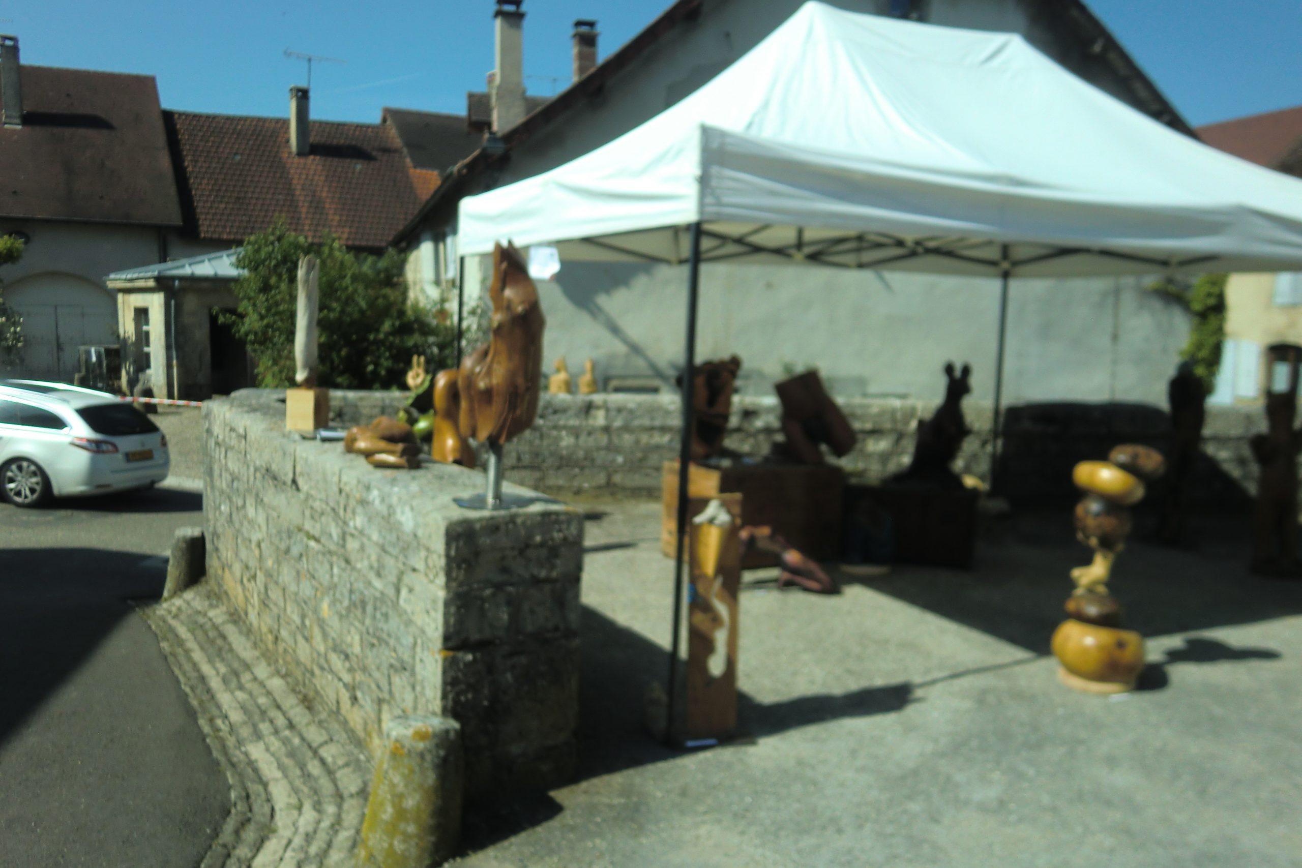Photo du stand de Jean-Do à Château Chalon en 2018